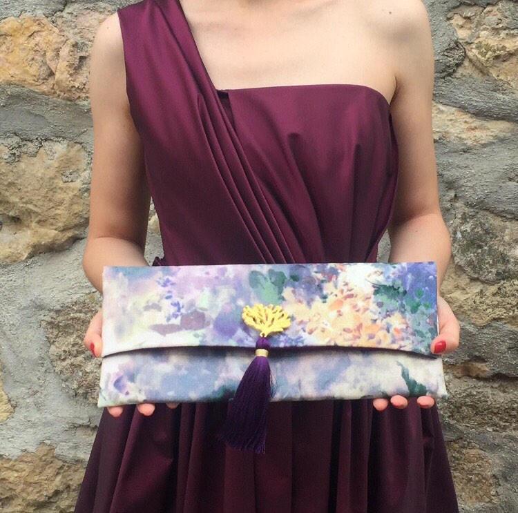 زفاف - Floral Bag/ Wedding Clutch/ Dinner Bag/ Evening Purse/ Gift For Her / Wedding Gift