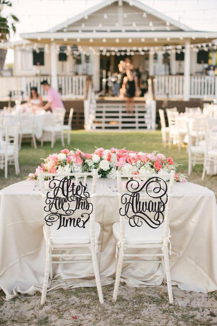 Mariage - Wedding Chair Signs, After All This Time, Always, Harry Potter Wedding, After All This Time Always Chair Signs, Chair Signs