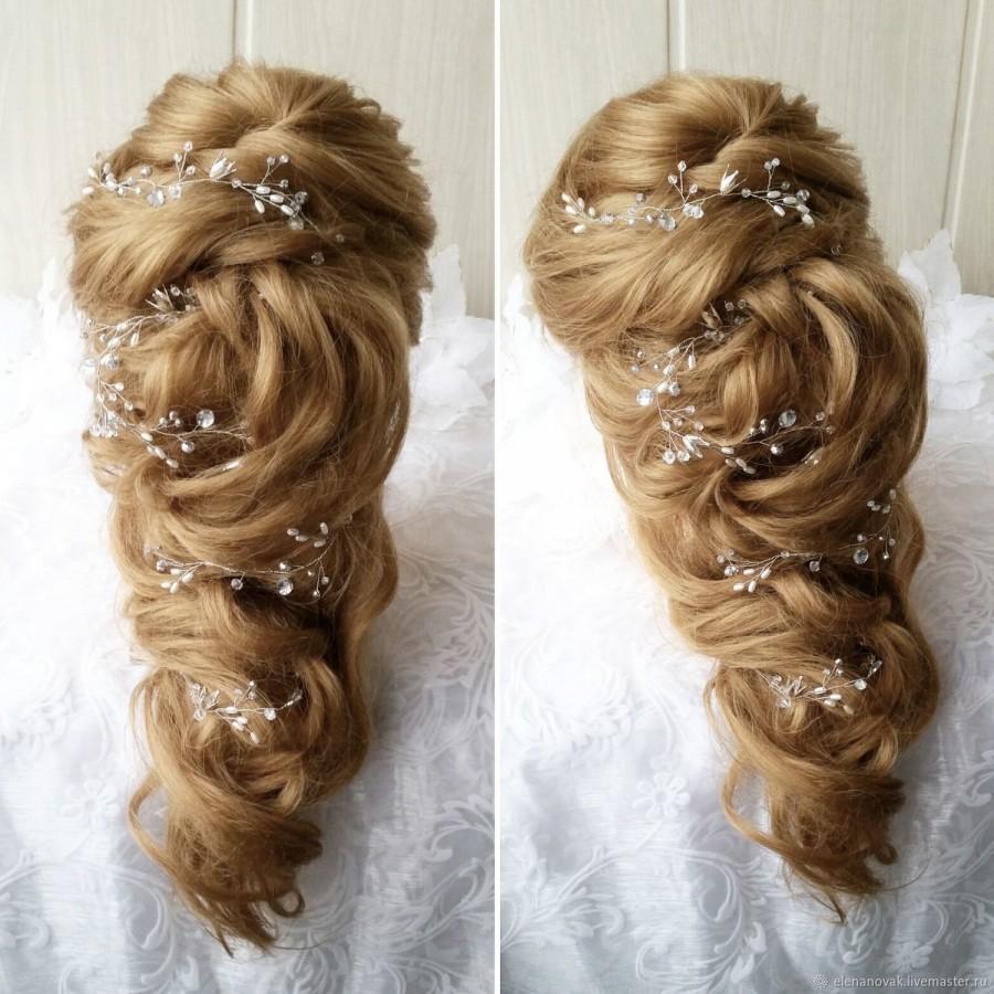 Hochzeit - Free shipping!!Extra Long Hair Vine,Bridal Hair Vine,Wedding Hair Vine,Crystal Hair Peice,Bridal Jewelry,Hair vine.wedding hair vine.