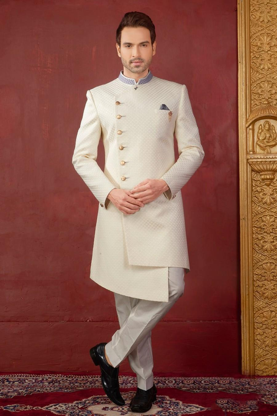 Hochzeit - Exclusive Royal Wedding Groom Sherwani Party wear Indo Western Ceremony Religious Elegant Outfit