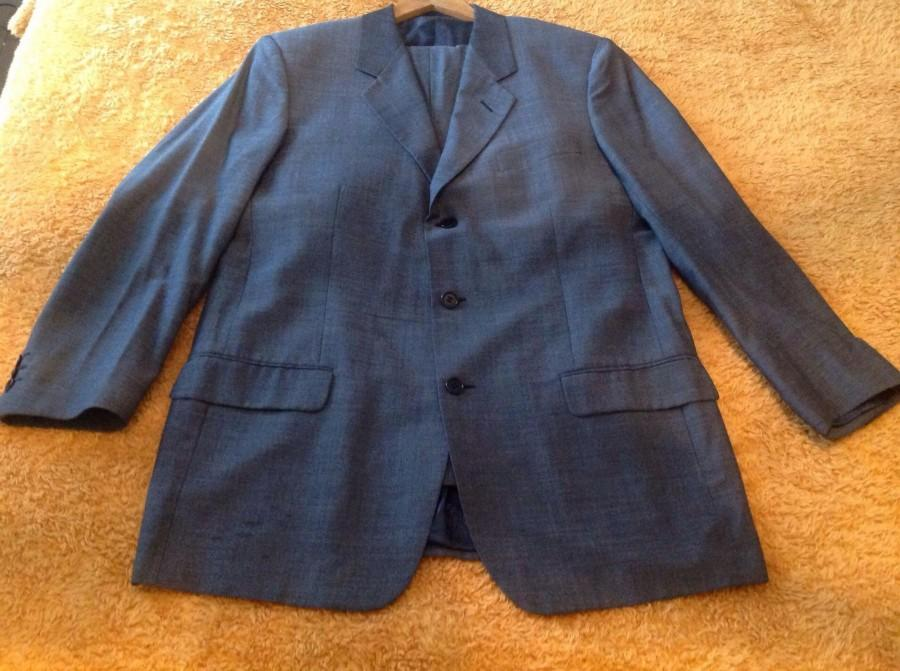 Wedding - Mens Suit, Jacket, Trousers, 42-44 Chest, Wool Blend, Silk, Made in Italy, Messori Suit.