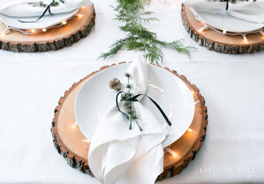 Mariage - Set of 12 - 14 inch wood centerpieces Rustic wedding centerpieces large wood slices wood slices for centerpieces wood center pieces!