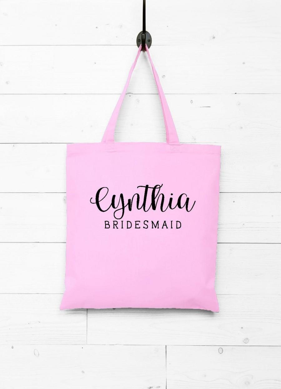 Mariage - Bridesmaid Gift Bag, Bridesmaids Totes, Monogrammed Bridesmaid Tote Bags, Personalized Bridal Party Gifts, Maid of Honor Tote Bag