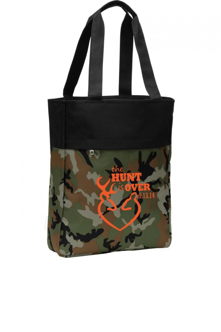 Mariage - Wedding tote Bag, Camo Tote bag, The hunt is over, Camo Wedding, Deer and Doe wedding, Hunting wedding, wedding tote bag, Wedding planner