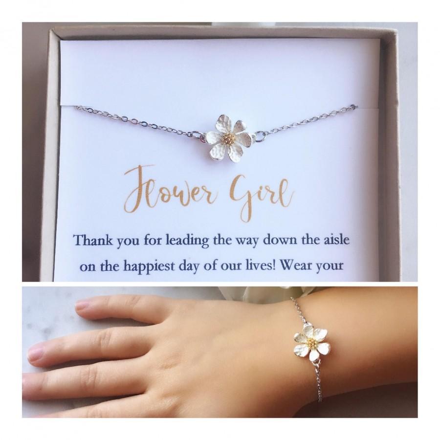 زفاف - Flower girl bracelet, toddler flower girl bracelet, personalized flower girl gift, flower girl jewelry, little girl bracelet, chil