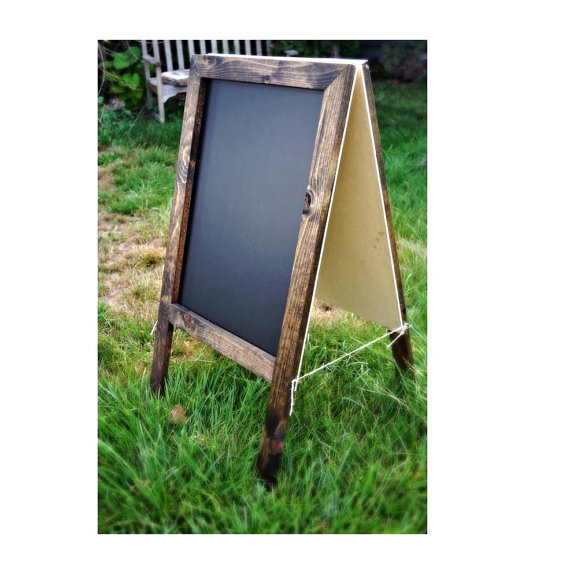Mariage - A-Frame Sandwich Chalkboard, Standing Chalkboard, Easel Chalkboard, Chalkboard Sign, Business Sign, Chalkboard Easel, Gift for Her