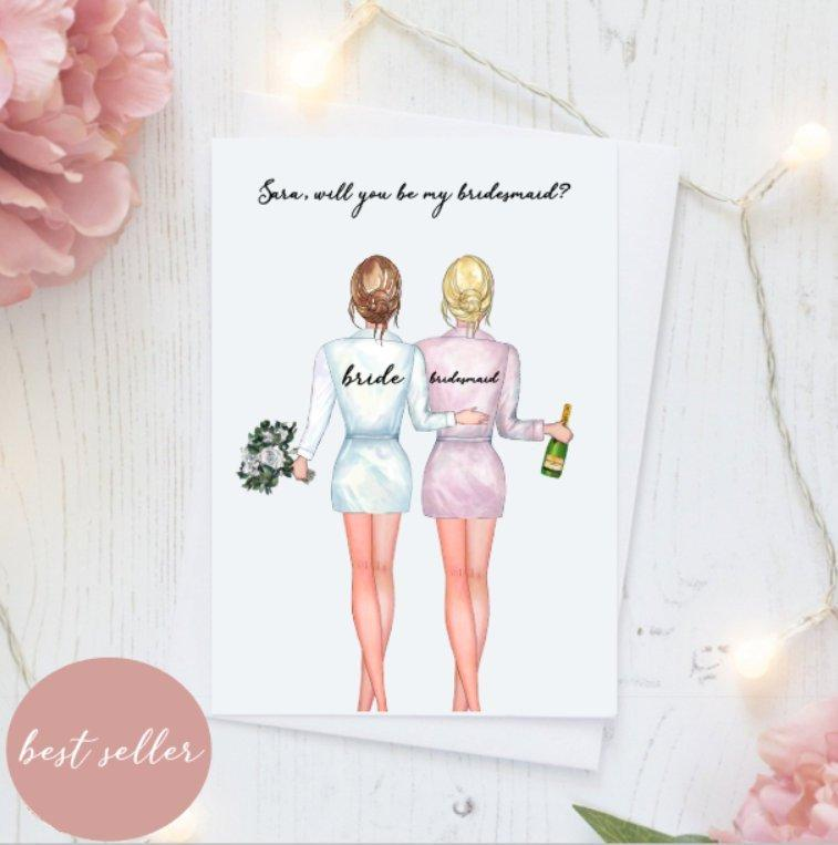 زفاف - Will You Be My Bridesmaid/Wedding Cards/Bridesmaid Proposal Cards/Greeting Cards/Bridesmaid