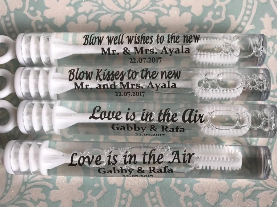 زفاف - 70 Personalized wedding bubbles labels, bubble wand labels