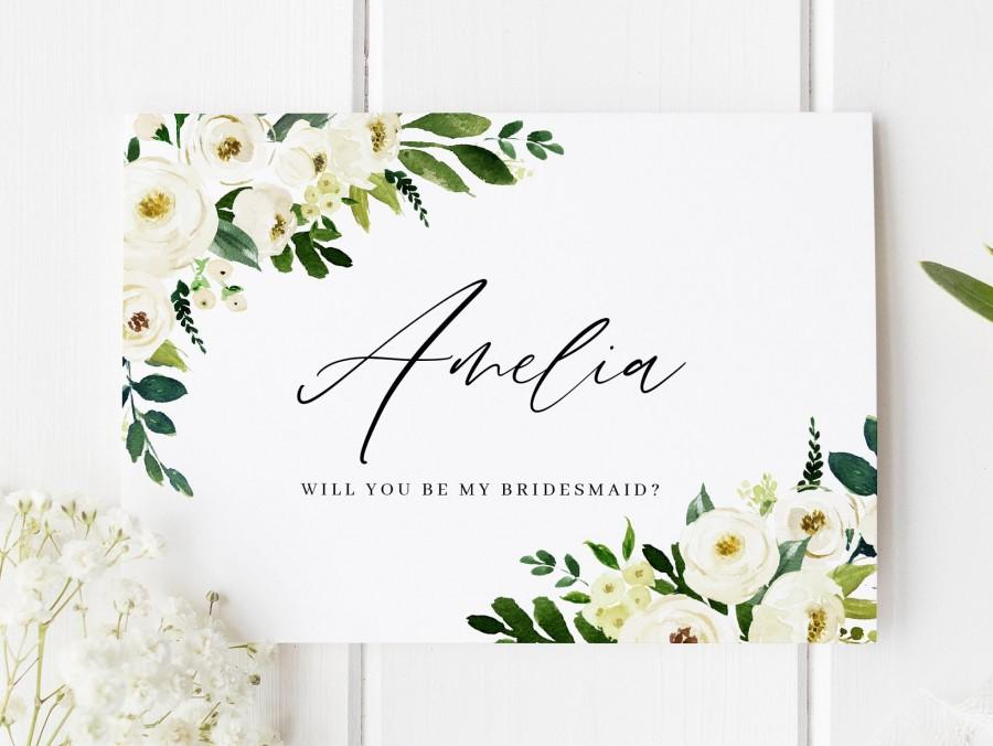 Свадьба - Will You Be My Bridesmaid Card, Classic Bridesmaid Proposal, Bridesmaid Proposal Card, Personalised Bridesmaid Card, Floral Bridesmaid Card