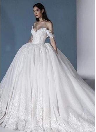 Свадьба - Luxus Brautkleider Online Günstige Hochzeitskleider mit Spitze Modellnummer: XY644