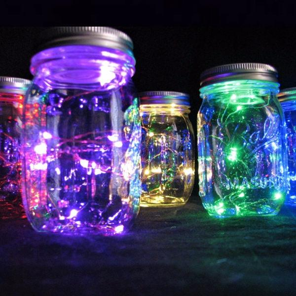 """Свадьба - Colorful Centerpiece Lights, 20"""" and 39"""" Fairy Lights Budget Saver!  10 Red, Green, Blue, Pink, Cool or Warm White LEDs, Batteries included."""