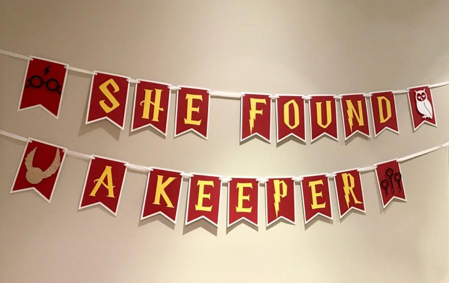 Свадьба - Harry Potter Bridal Shower Theme Banner - She Found a Keeper