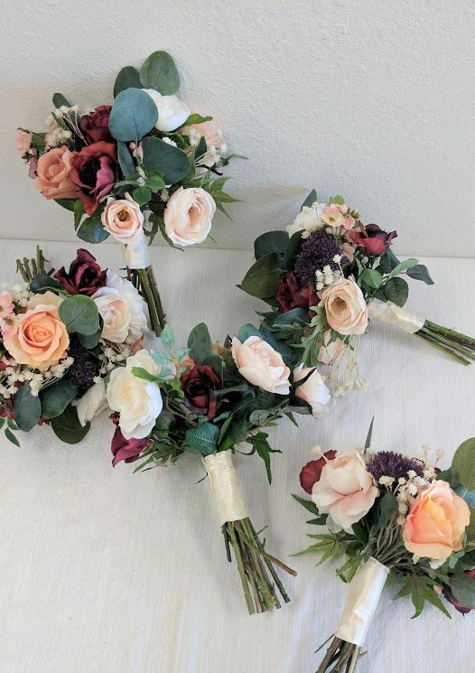 Hochzeit - Wedding Bouquet, Bridesmaid Bouquet, Wedding Flowers, Silk Flower Bouquet, Silk Flowers, Bouquet, Flower Bouquet, The Faux Bouquets