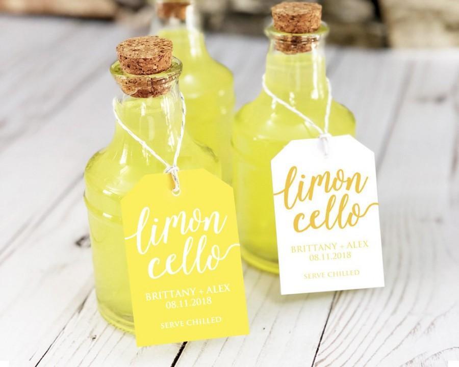 Wedding - Limoncello Favor Tags, Limoncello Favors, Limoncello Tags, Limoncello Labels, Limoncello Bottle, Limoncello Wedding Favor, Alcohol Favors