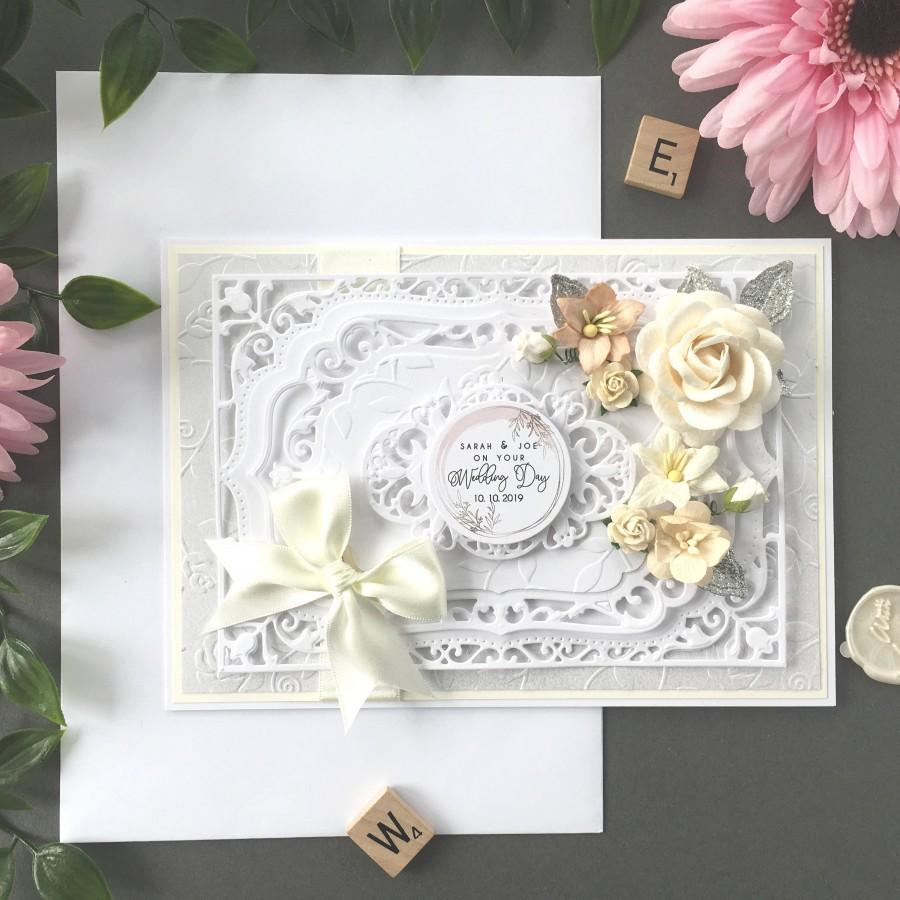 Mariage - Personlisable Wedding Card, Wedding Cards, Wedding Day Card, Boxed Wedding Card, Custom Wedding Card, Luxury Card, Luxury Wedding Day Card