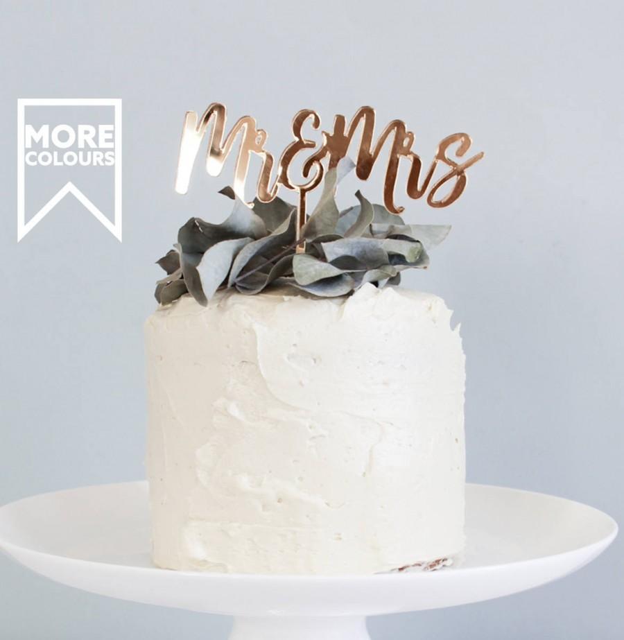 Mariage - Mr & Mrs Cake Topper, Golden Cake Topper, Love Cake Topper, Golden Anniversary, Gold Cake Topper, Mr and Mrs Ornaments, Wedding Cake Topper