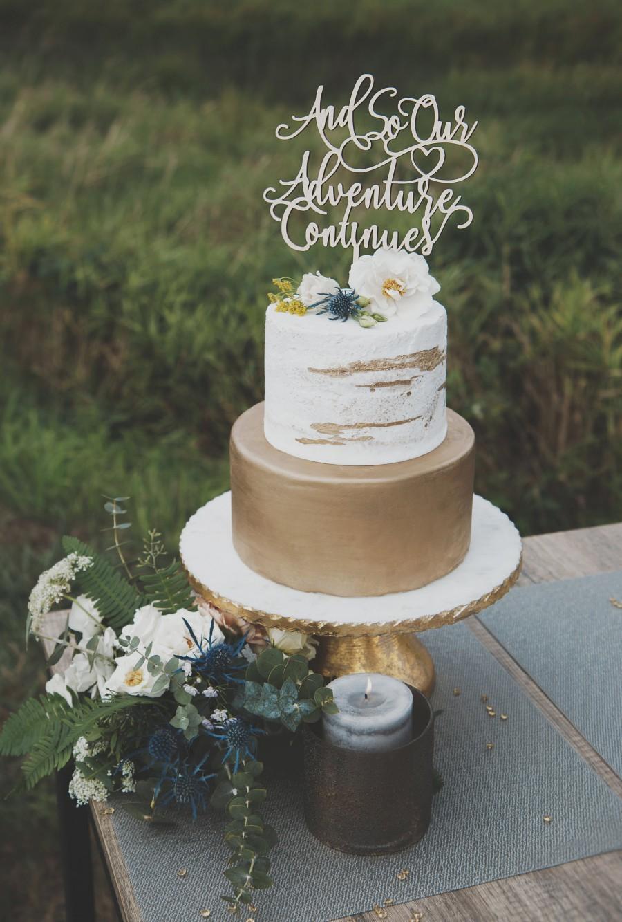Hochzeit - Adventure Continues Wedding Cake Topper, Adventure Begins, Wedding Cake Topper, Wedding Decor, Wedding Cake Toppers, Cake Topper Wedding