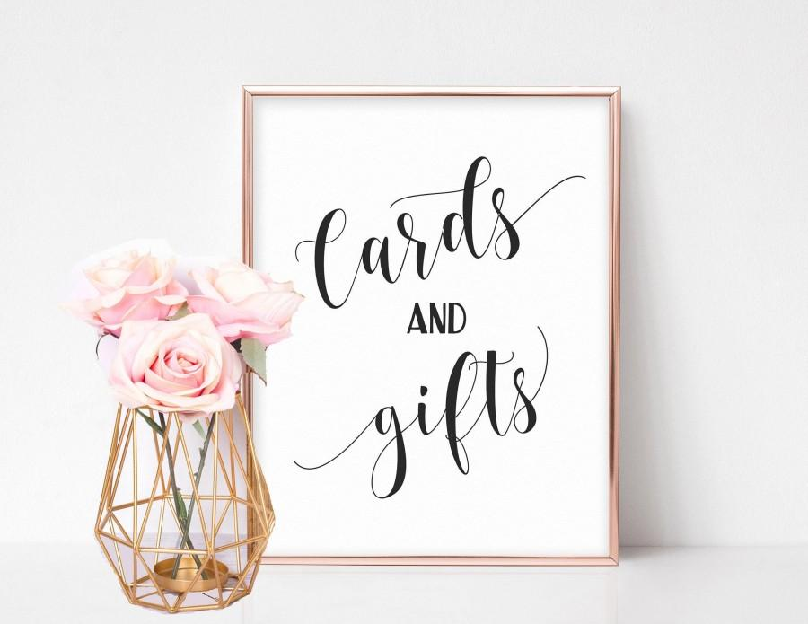 Mariage - Cards and Gifts Wedding Sign, Cards and Gifts Sign, Cards and Gifts Printable, Wedding Gifts Sign, Cards Sign Wedding, Bridal Shower Signs