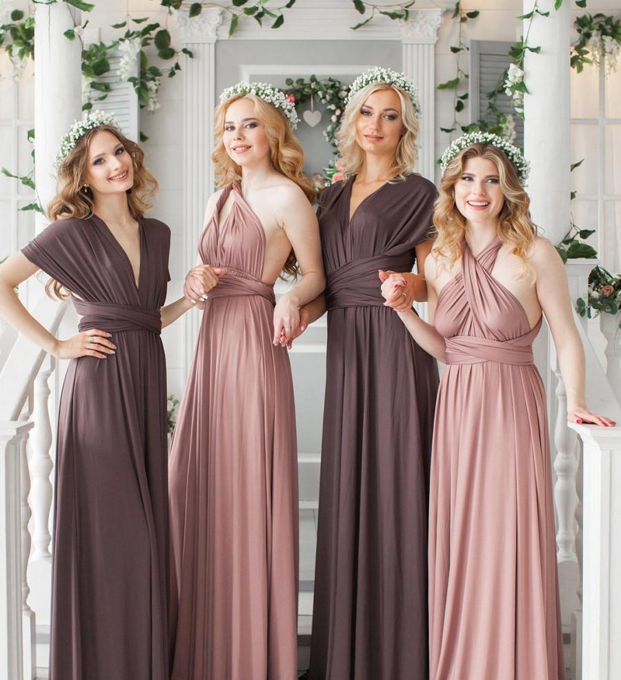Hochzeit - Infinity Dress, Convertible dress, Bridesmaid Dress, Party Dress, Prom dress, Multiway dress, Long Bridesmaid dress, Maxi Dress
