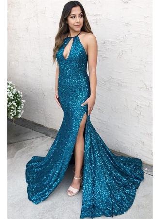 Свадьба - Elegante Abendkleider Lang mit Glitzer
