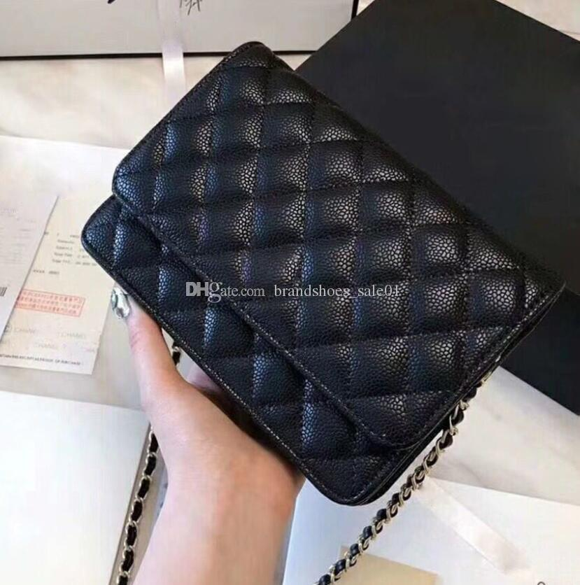 Wedding - 5A Quality Classic Women'S Black Caviar Woc Clutches Crossbody Bag 33814 Lambskin Qulited Mini Flap Shoulder Bag 20cm Factory Outlet Designer Handbag Fabric Bags From Brandshoes_sale01, $33.07
