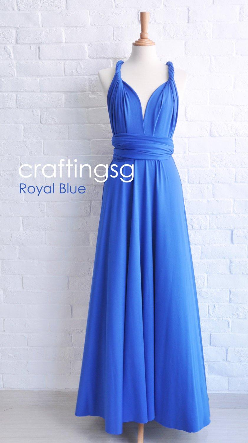 169d1285634 Bridesmaid Dress Royal Blue Maxi Floor Length