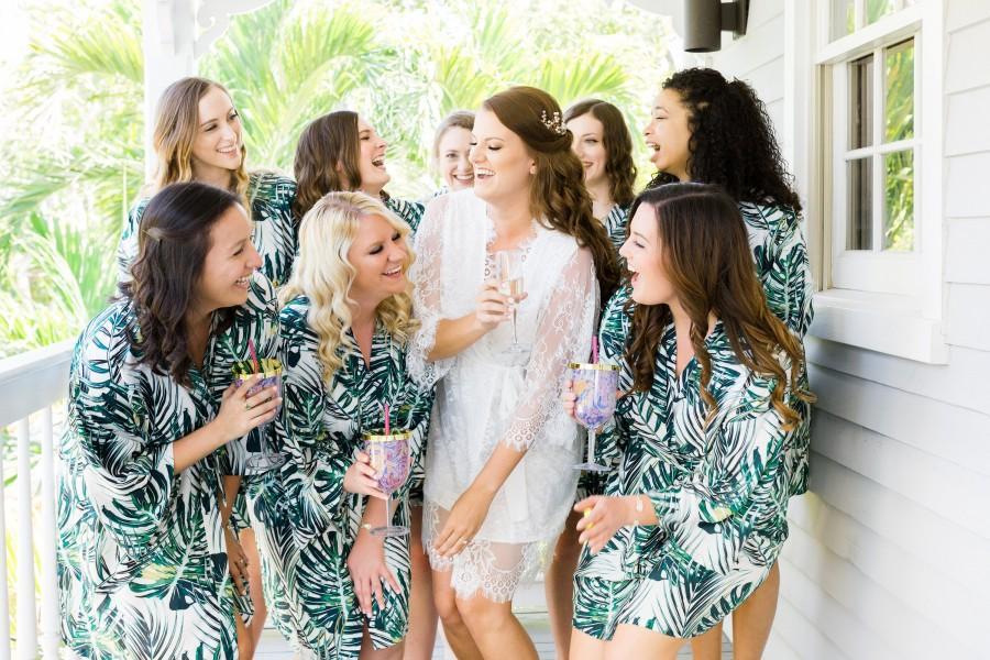 Wedding - Tropical Bridesmaid Robe