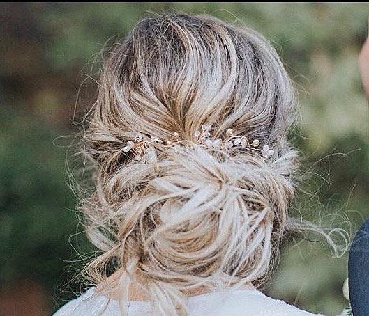 Mariage - Pearl Hair Vine Pearl And Crystal Wedding Hair Piece Pearl Wedding Hair Vine Bridal Hair Piece Pearl Bridal Hair Vine