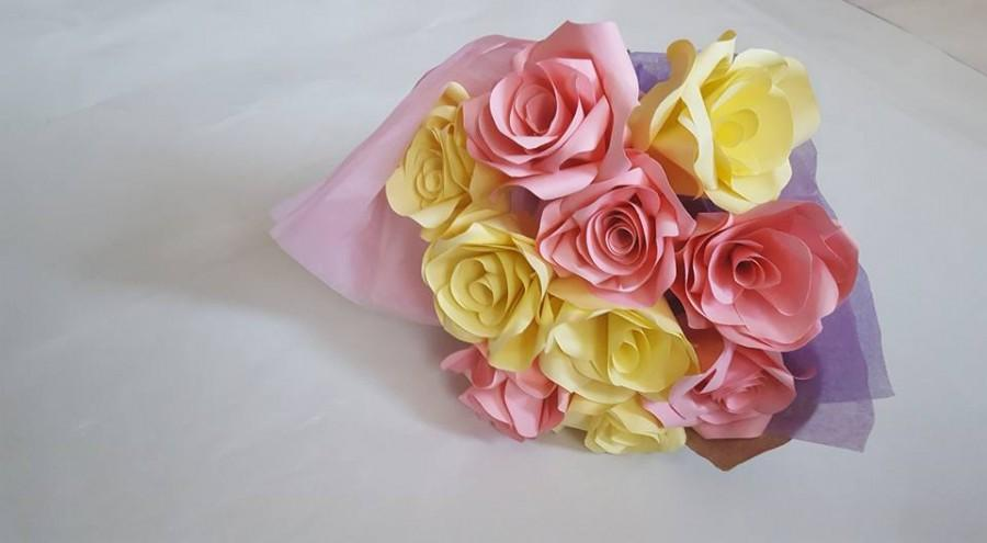 Свадьба - Mother's Day Flowers, Paper flower bouquet, Wedding flowers, First anniversary flowers, Paper anniversary