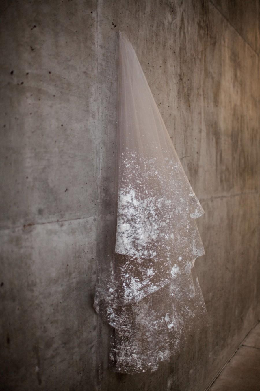 Mariage - SILVER Metallic Flaked Bridal Veil - Hera by Cleo and Clementine