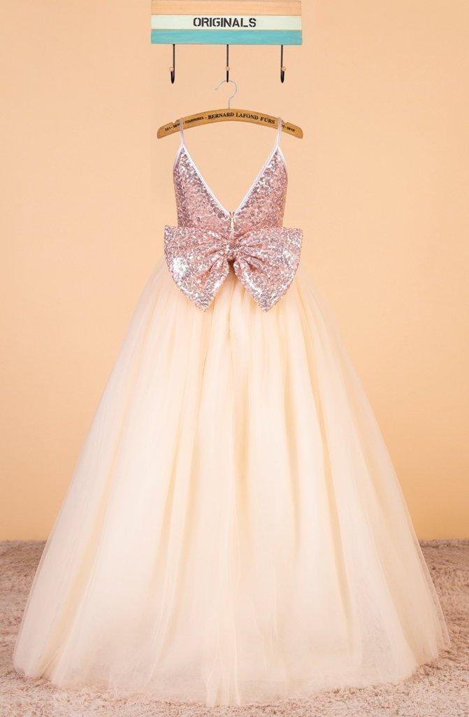 Rose Gold Sequins Dress Flower Girl Dress Pageant Dress Champagne Tulle Dress Baby Girl Dress For Wedding 0118 2916999 Weddbook