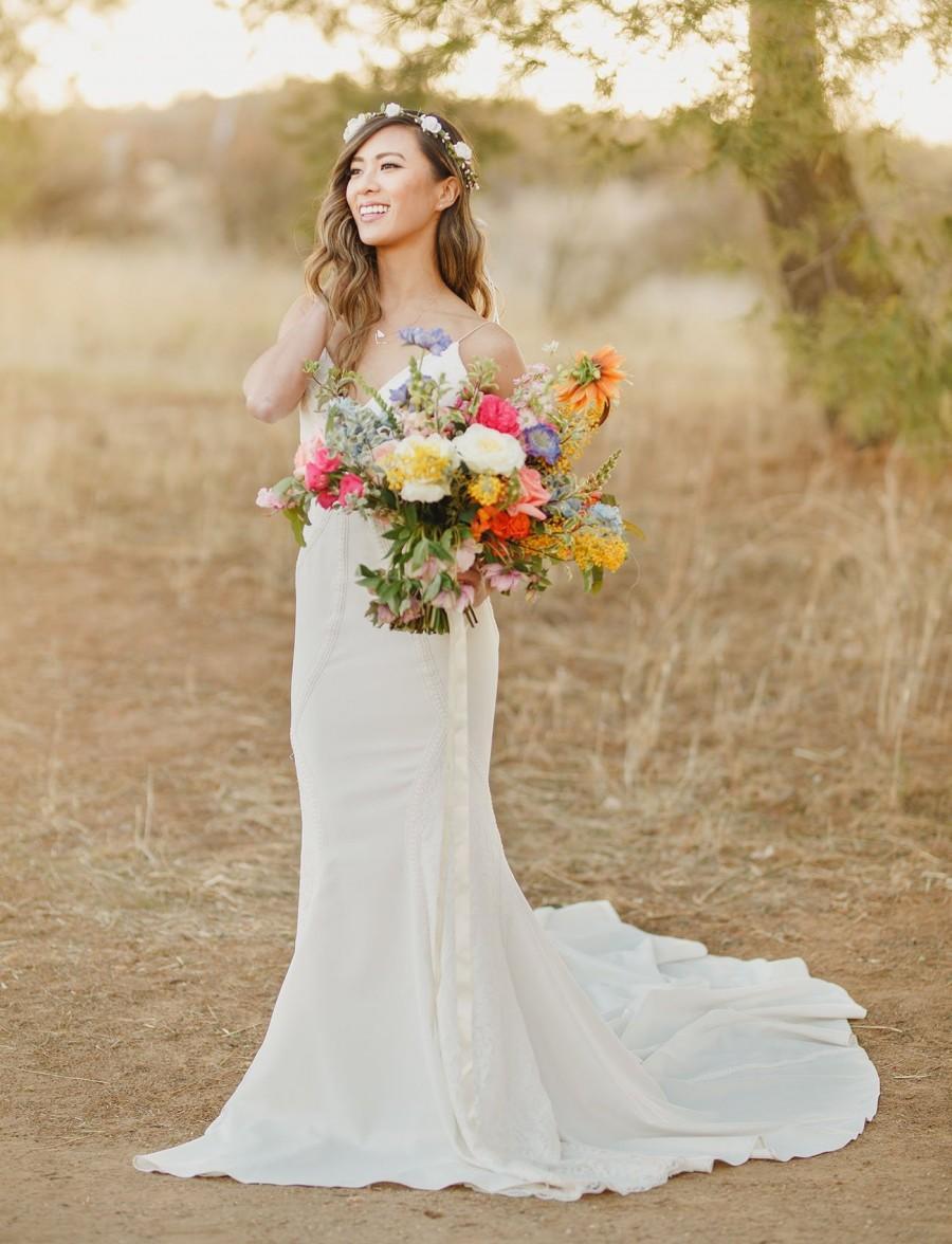 Mariage - Peony Flower Crown - Wedding Flower Crown - Bridal Headpiece - Natural Wedding Hair Wreath - Flower Girl - Child Flower Crown