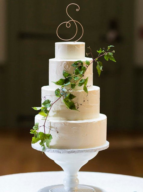 Wedding - Monogram Wire Wedding Cake Topper Rustic Chic Initial Custom Personalized Anniversary Cursive Reusable Metal Industrial Elegant Simple