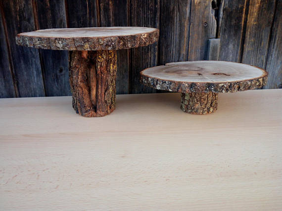 "Свадьба - Rustic Wood Cake Stand 7"" 8"" 9"" 10 11"" "" 12"" 14"", Bridal Stand, Wedding Decoration, Home Decoration, Rustic Wedding Decoration"