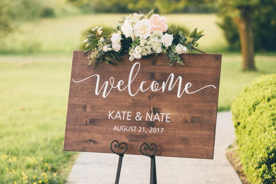 Wedding - Wedding Welcome Sign - Wood Wedding Sign - Rustic Wedding Decor