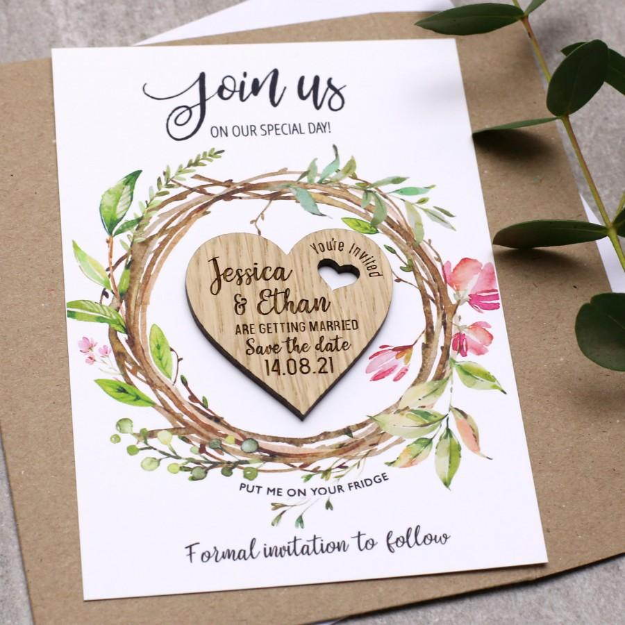 Cards Personalised Rustic Wedding