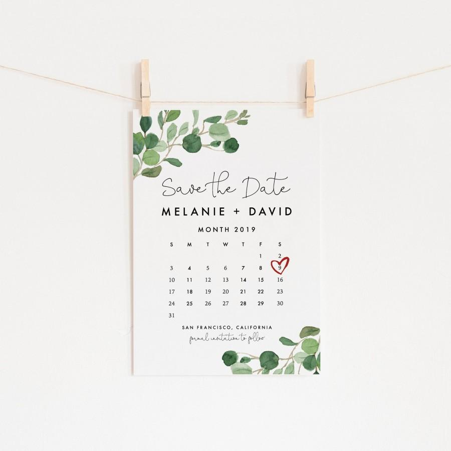 Hochzeit - Editable Save the Date Calendar Template
