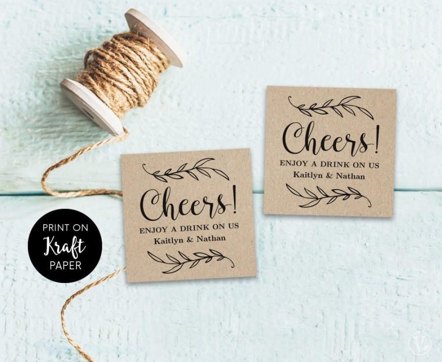 Hochzeit - Drink Tickets, Drink Token, Printable Wedding Drink Tickets, Wedding Drinks Token Template, DIY Drink Tickets