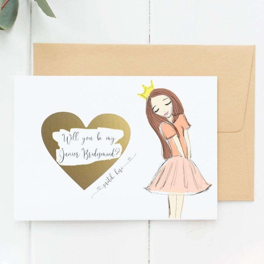 Hochzeit - Flower Girl Proposal Cards, Junior Bridesmaid Proposal, Will You Be My Junior Bridesmaid (WYBMJSO)