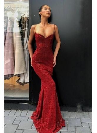Mariage - Elegante Rote Abendkleider Lang