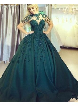 Mariage - Elegante Abendkleider Lang Grün