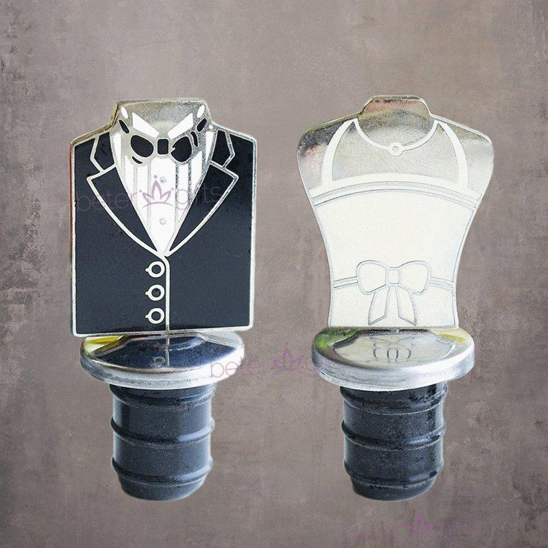 Wedding - BeterWedding男男彩虹婚禮用品結婚獎品創意獎品回禮小物禮服紅酒瓶塞WJ036