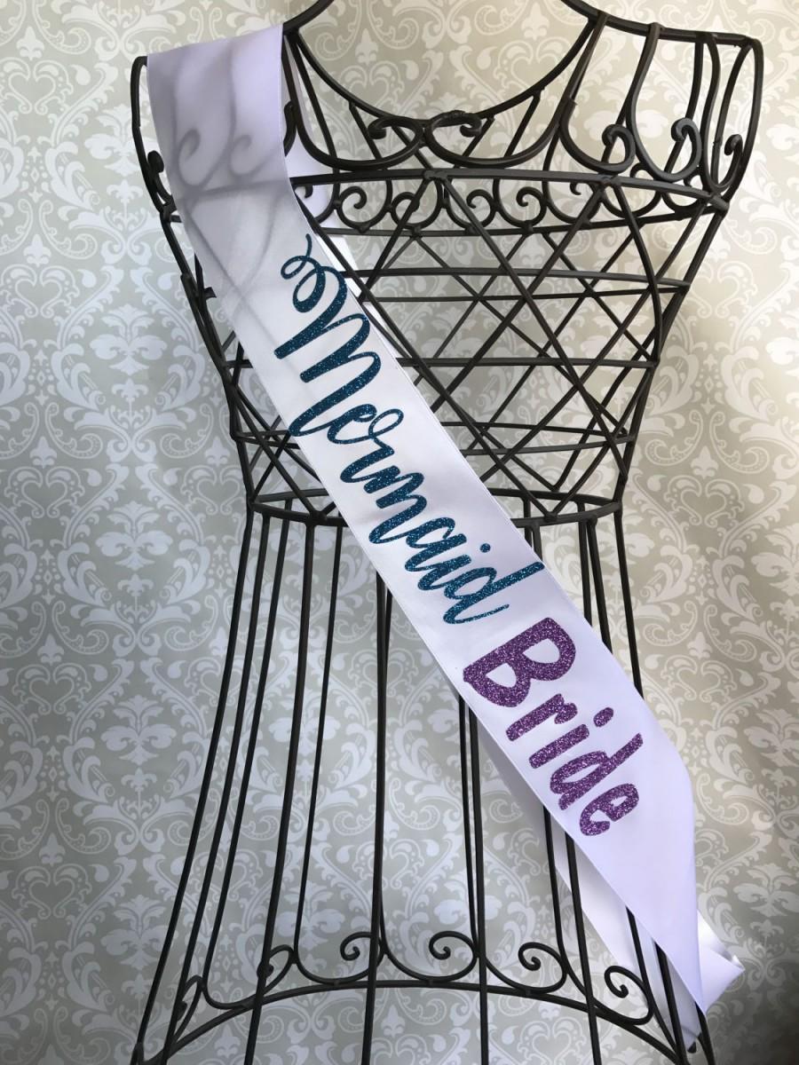 Wedding - Mermaid Bride bachelorette party bridal shower sash