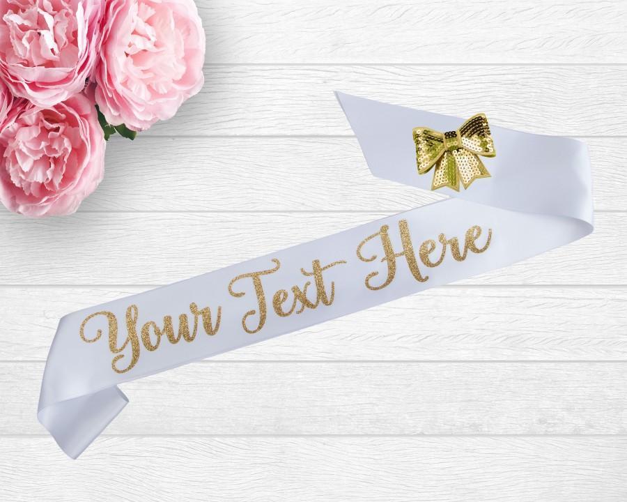 Wedding - Personalized Satin Sash - Pageant Sash - Personalized Sash - Birthday Party - Bachelorette Party