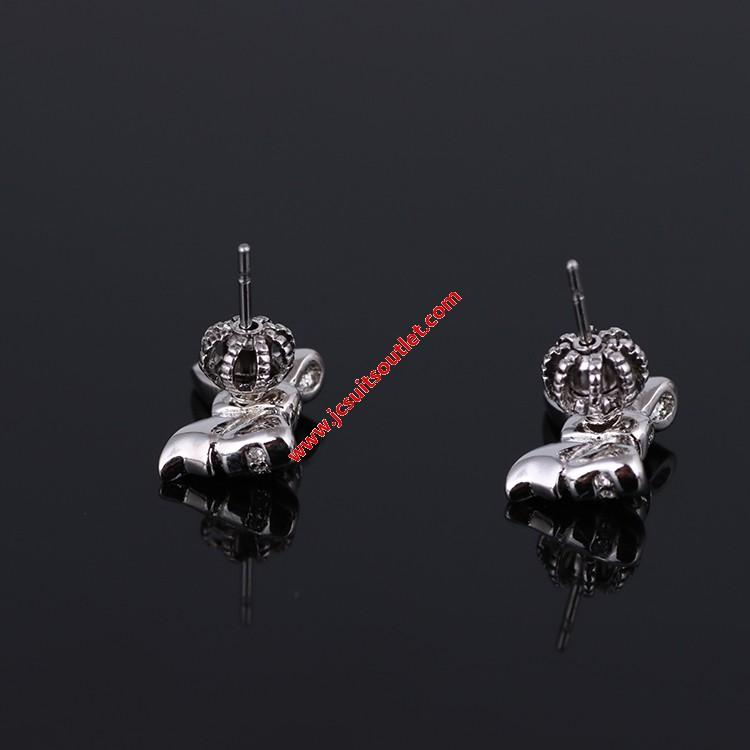 Wedding - Juicy Couture Silver-Tone Diamond Bow Earrings