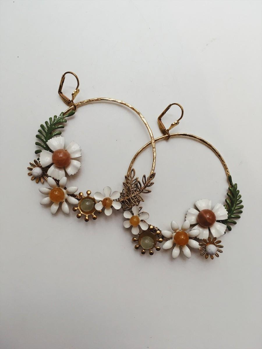 Wedding - Bespoke hoop earrings, #1517