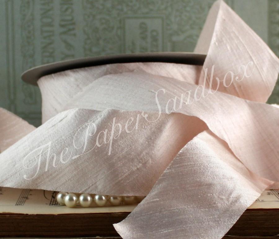 Mariage - Blush Silk Ribbon, 2 inches wide, Dusty Blush Silk Ribbon, Blossom Dupioni Silk, Pantone Blush