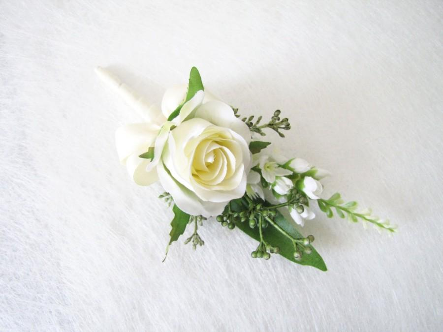 Mariage - White Rose Corsage, White Rose Boutonnieres, Rose Corsage, Wedding Boutonniere, Rose Wedding