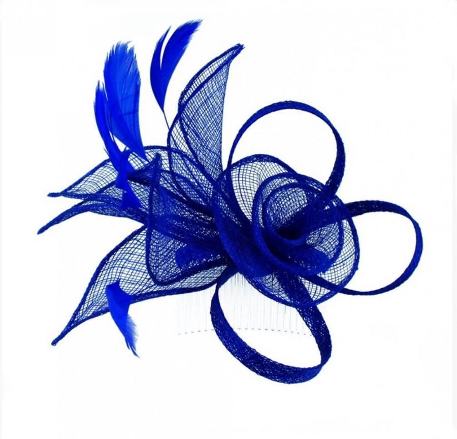 cbb6ab55 Royal blue, blue, cobalt blue, deep blue, bright blue, Fascinator,  fascinators, Fascinator hat, hat, hatinator, wedding, ascot, derby, races