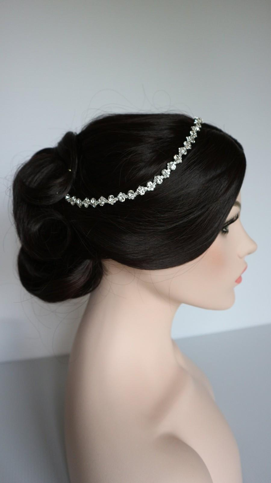 Mariage - Silver Rhinestone Bridal Headband,Bridal Accessories,Wedding Accessories,Crystal Wedding Hairband,Bridal Headpiece,#H31